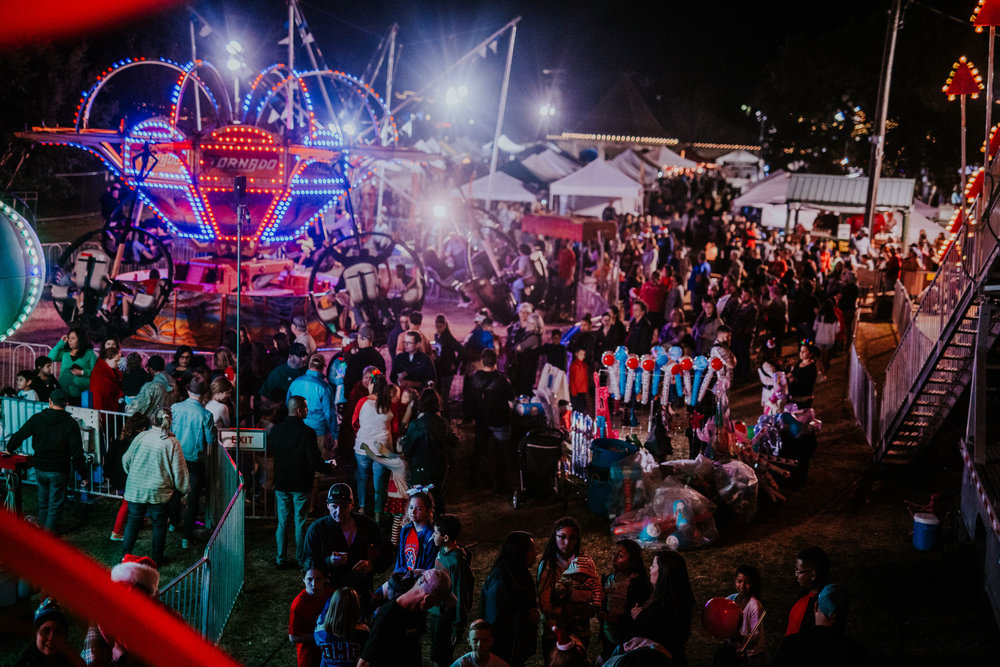 carnival - Enjoy a small carnival with games an rides on the Downtown Greenbelt both Satuday and Sunday!Hours: 12:00 pm - 9:00 pm Saturday, Dec 112:00 pm - 5:00 pm Sunday, Dec 2