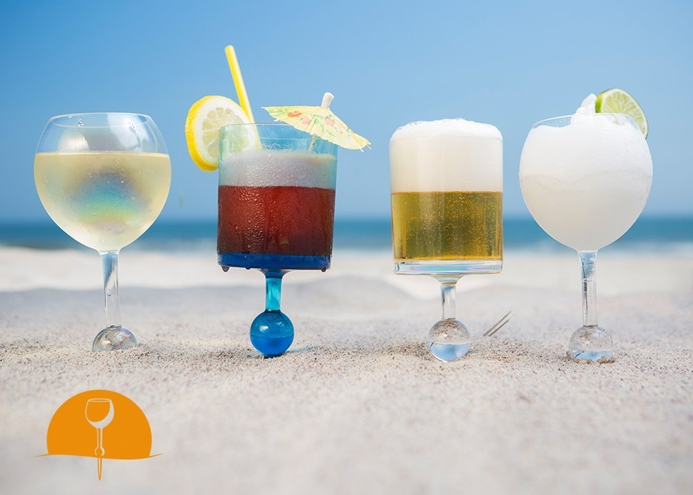 The Beach Glass - Floating, Unbreakable Acrylic Drinkware  -- $16.95