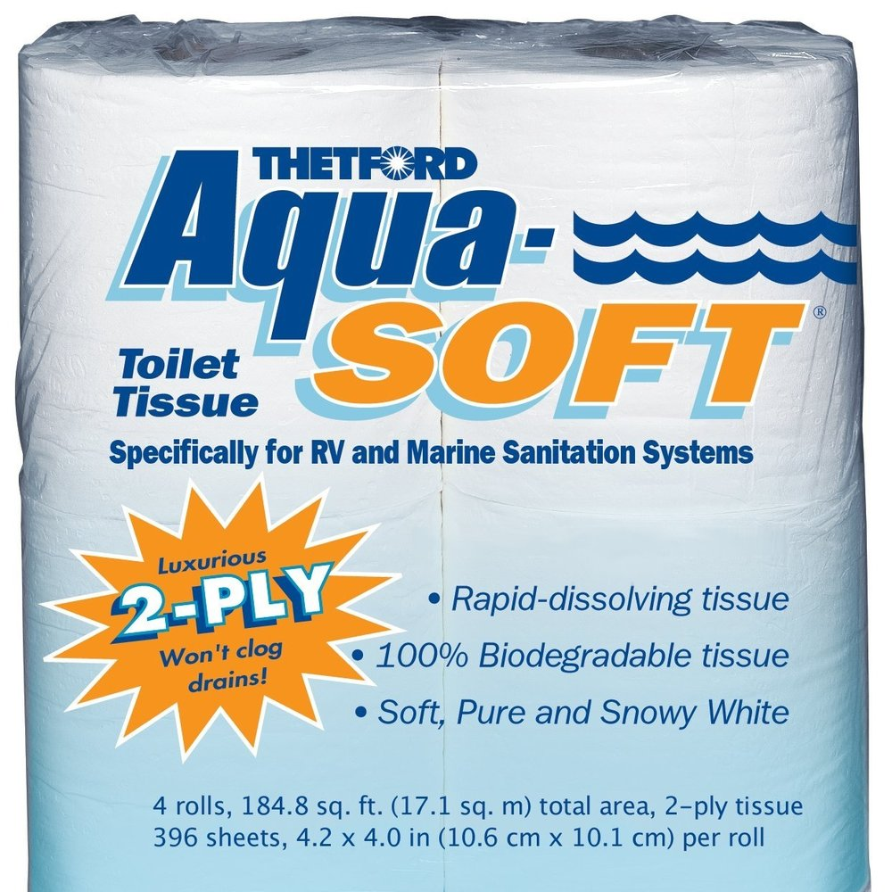 Aqua-Soft Biodegradable Toilet Tissue  -- $8.68