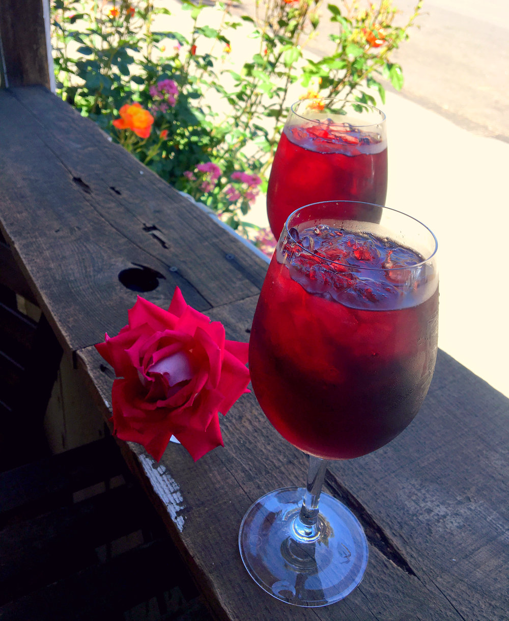Sangria at the Blue Door Winery