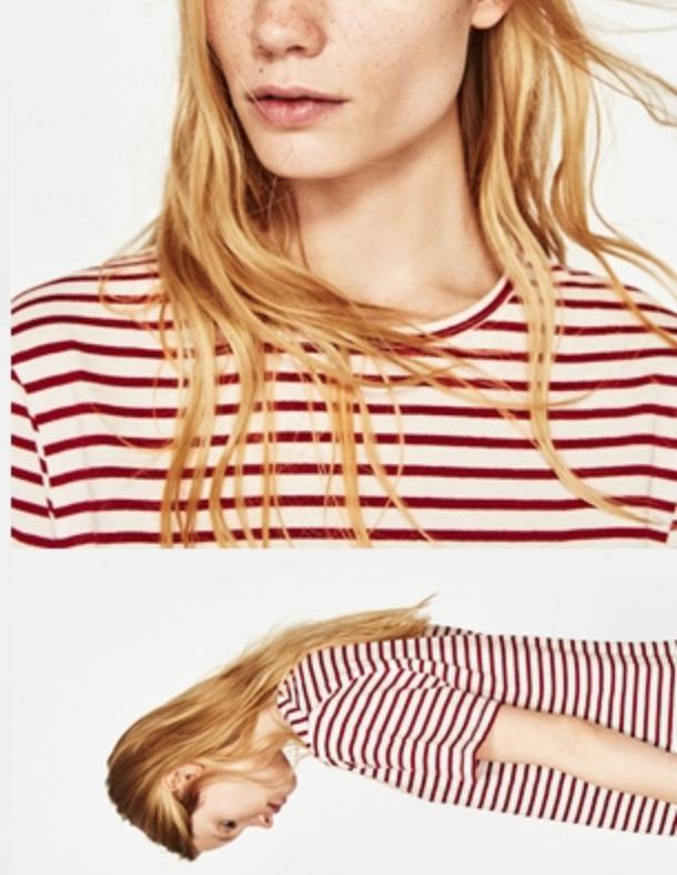 เสื้อยืดลายทาง - ไม่ว่าจะเทรนแบบไหน ลายทางก็อินตลอดนะคะ สามารถหยิบมามิกซ์แอนด์แมตช์ได้ทุกรูปแบบด้วยความเป็นเสื้อเบสิคสวยสวยที่ใส่ได้กับทุกชุด เสื้อยืดลายทางจึงมีแบรนด์ทำออกมาตลอด
