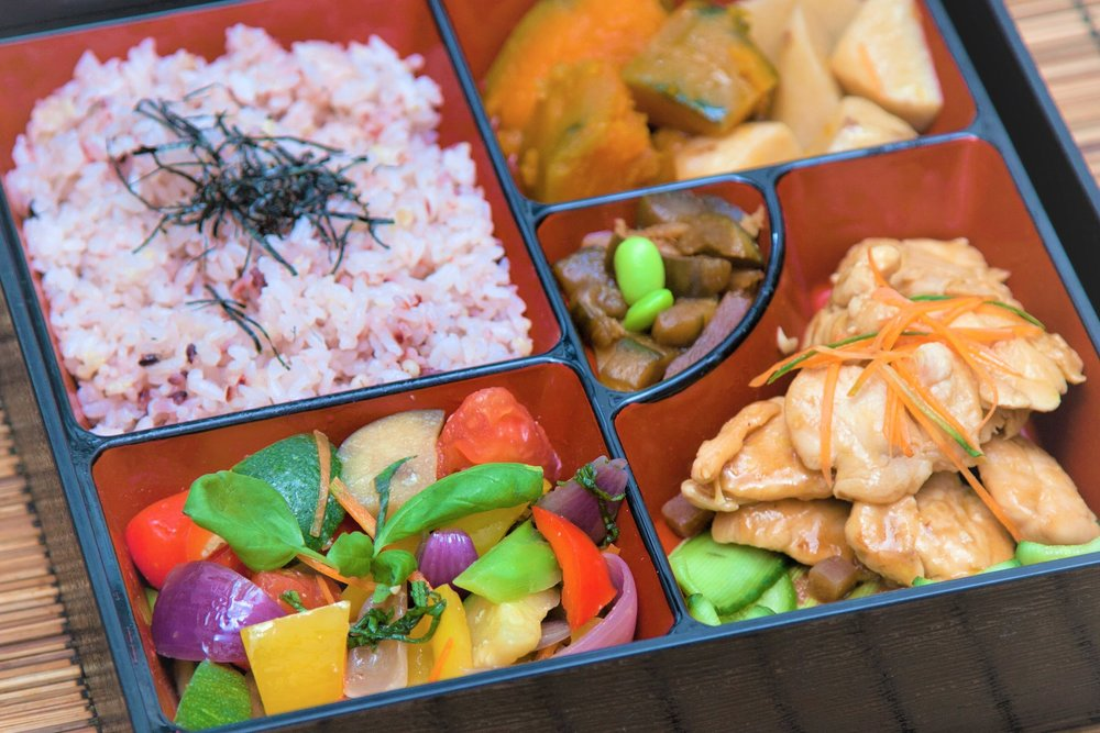 Design your own bento at our Deli! -