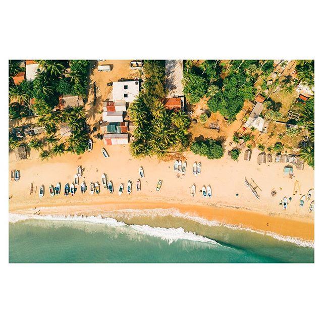 A birds eye view of Arugam Bay, Sri Lanka.