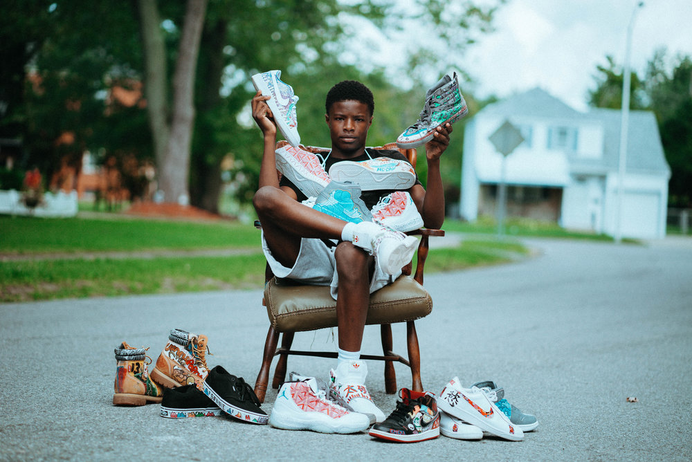 At this time we are pulling our efforts together to support Emeka Wajed, a 14-year-old artist who lives in Buffalo NY. - Check out the clip below from Emeka's Interview.