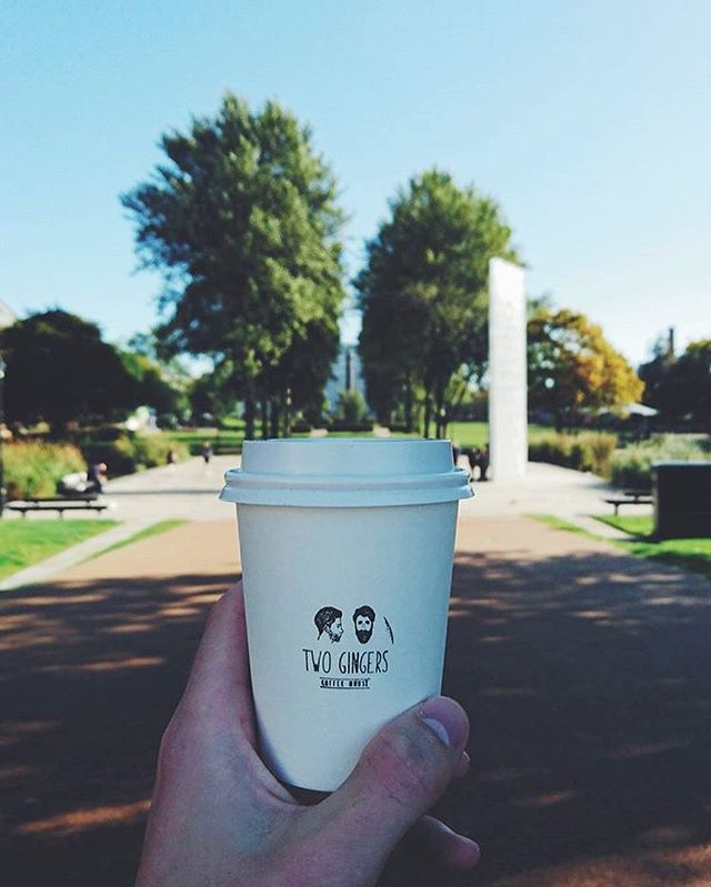 Regram from @willofkirk. Share your shot with us while you're out and about! ☕️🍃🌞 #hull #twogingerscoffee