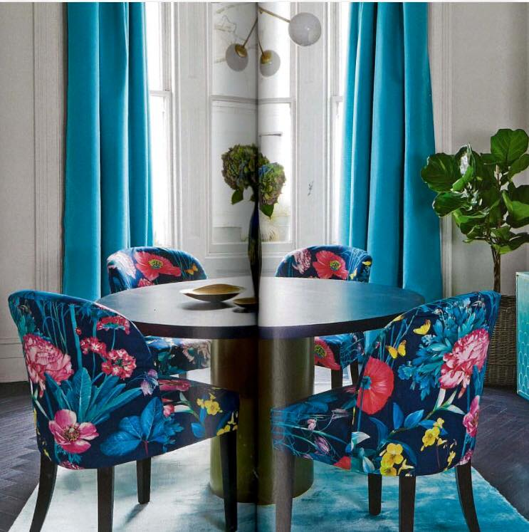 Osborne & Little curtains, blinds and chair coverings