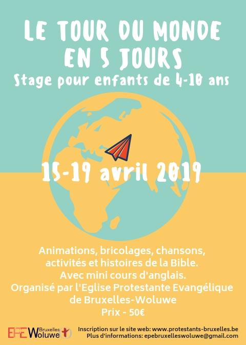 Faites le tour du monde en 5 jours - Stage pour enfants de 4 à 10 ans