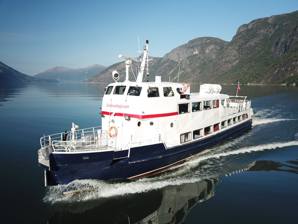 MS Fjærlandsfjord - 150 paxLarge sun deck, two lounges, cafeteriaAvailable for charter