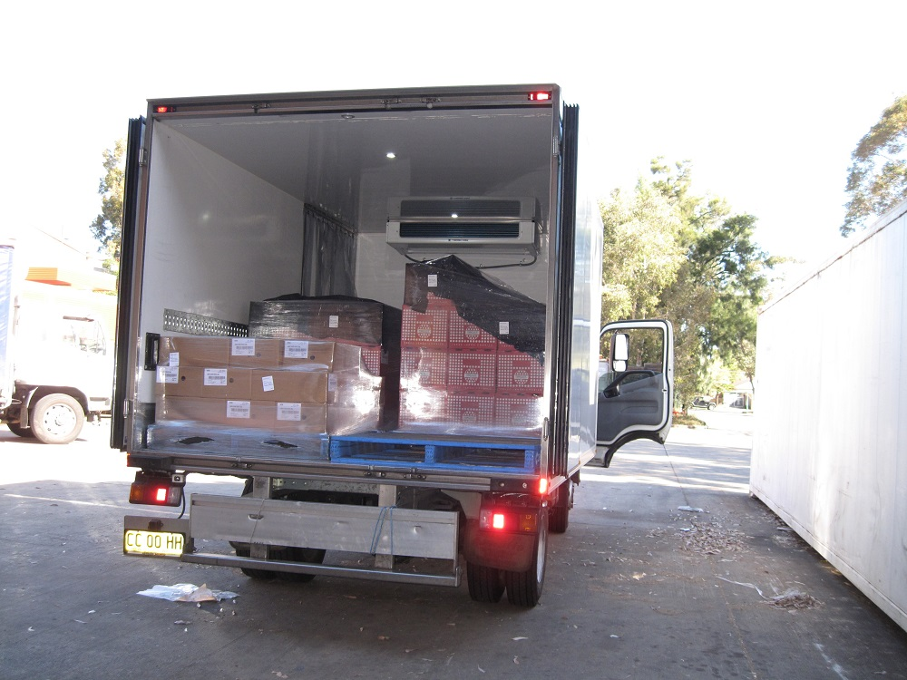 A truck used for our third party food logistics service in Sydney