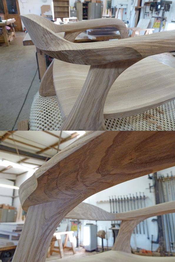 Flowing curves before final sanding