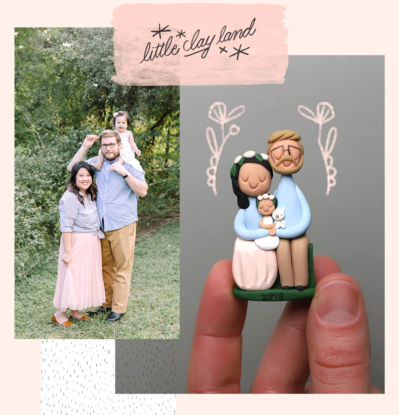 Custom Clay Portraits and Ornaments.