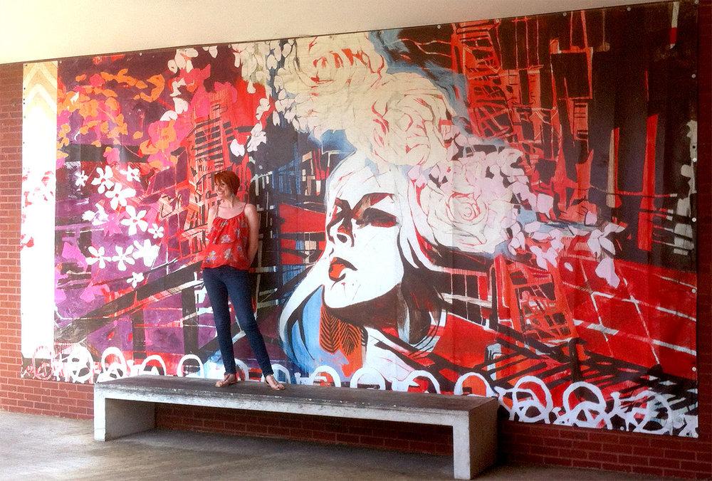 Unfolding Mural , 2008, 20' x 10'