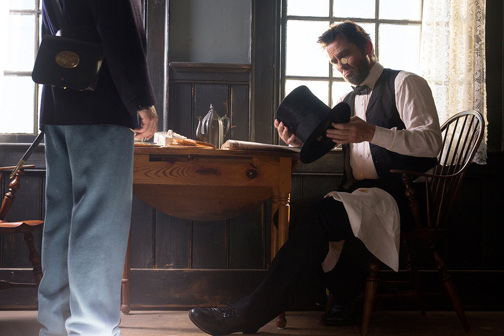 2013 National Geographic Channel docudrama  Killing Lincoln . Photo by Kent Eanes