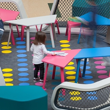 'Klee' stools and tables designed for 'Klee', the children place designed by @fahr021.3  #mendesmacedo #mmdesign #mema #designstudio #productdesign #interior #furniture  #stool #storage #design #designers #madeinportugal #fahr #porto #portugal