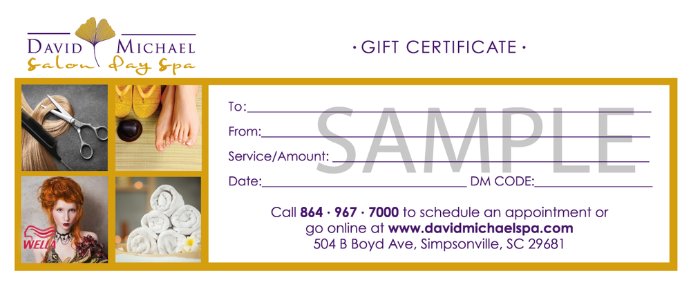Hair Gift Certificate