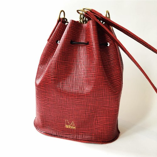 La Lisette Leathergoods—MINI BUCKET BAG - RED