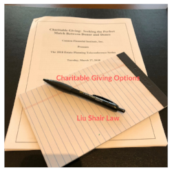 Charitable Giving OptionsLiu Shair Law.png
