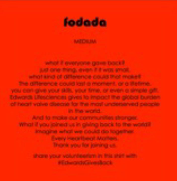 inside the garments, fodada reinforced the message, reconnecting the team to corporate messaging as well as activating an engagement campaign to continue giving/connecting -