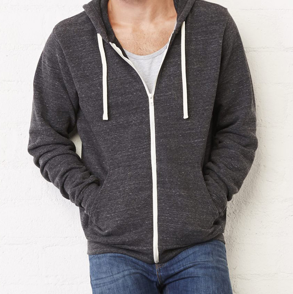 Unisex Triblend Sponge Fleece Full-Zip Sweatshirt