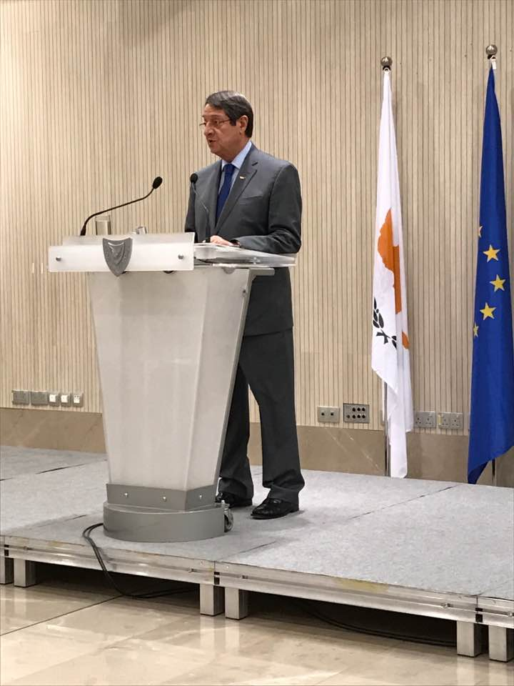 President of Cyprus, Nicos Anastasiades.