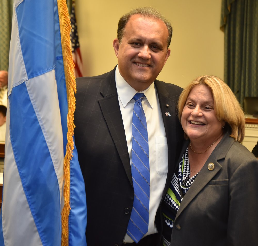 Rep. Ileana Ros-Lehtinen (FL-27) with Nick Larigakis