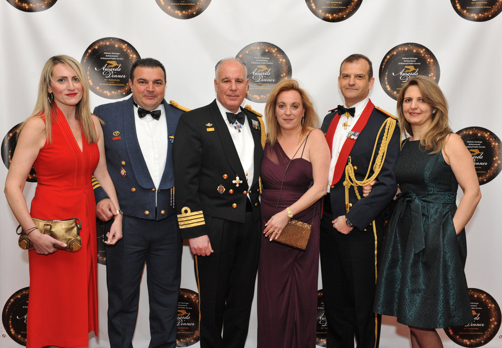 Lt. Col. and Mrs. Stefanos Ampouleris, Capt. and Mrs. Panayiotis Papanikolaou, Col. and Mrs. Panagiotis Kavidopoulos