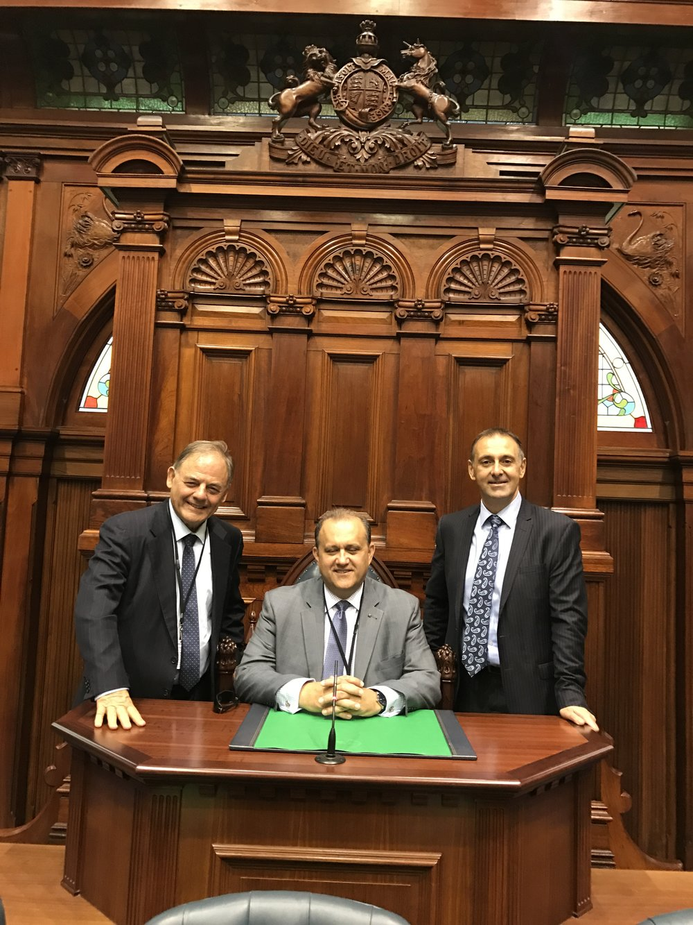 At the State Parliament of Perth with Con Berbatis and State MP, Peter Katsambanis