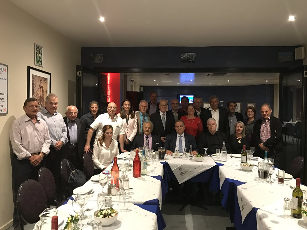 Dinner hosted by Cypriot community of Melbourne
