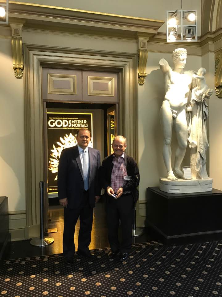 With Con Berbatis visiting the Hellenic Museum in Melbourne