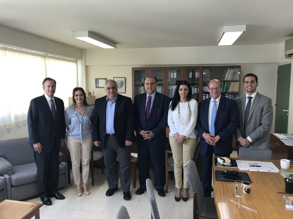 AHI Delegation with Dr. Stelios Nicolaides, Director, Hydrocarbons Service, Ministry of Energy, Commerce, Industry, and Tourism