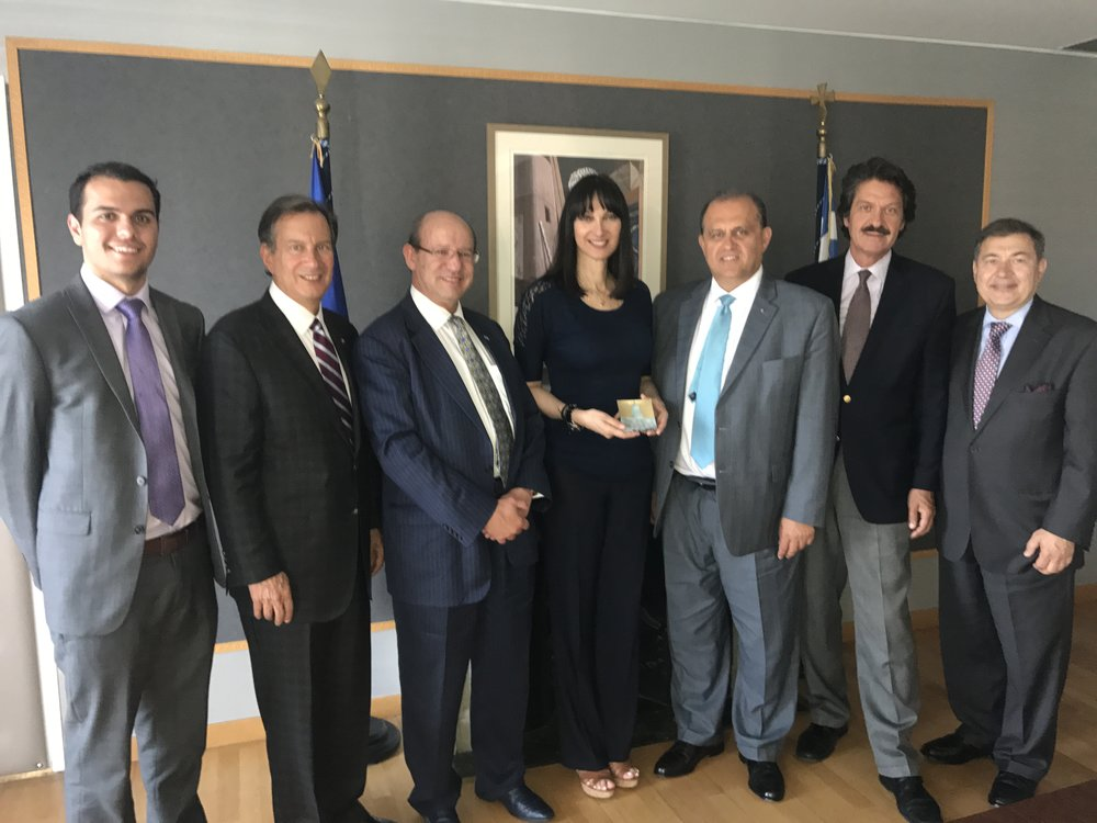 AHI Delegation with Elena Kountoura, Minister of Tourism