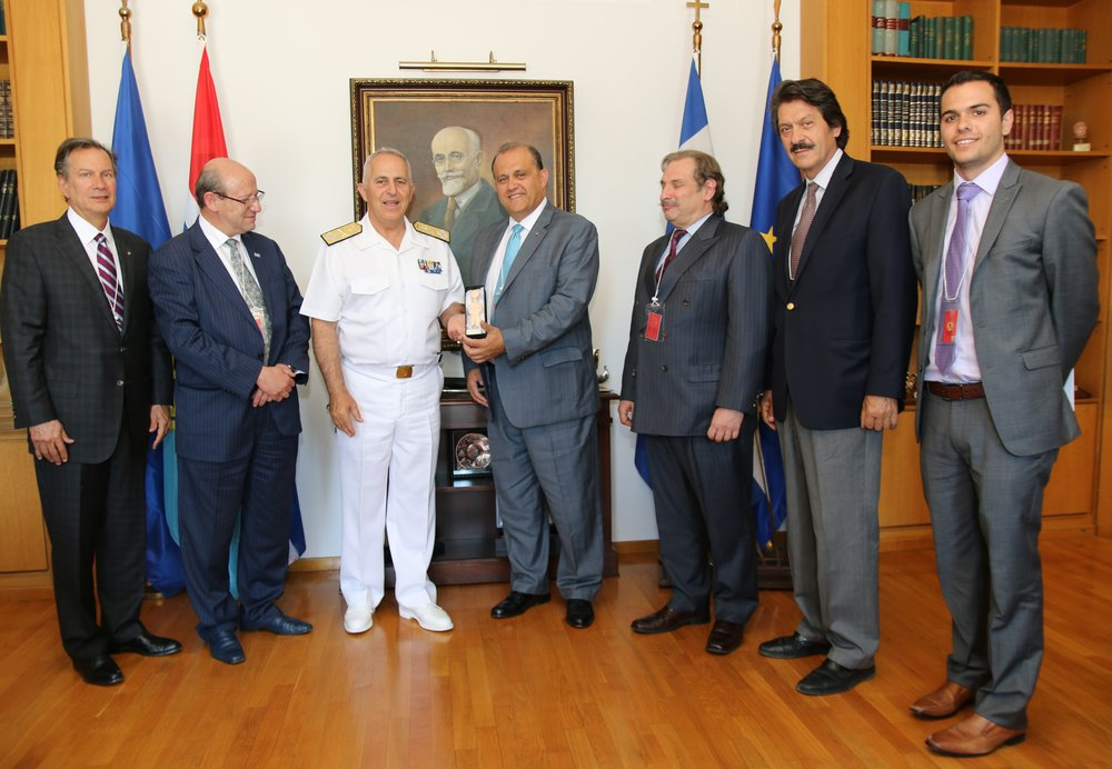 AHI Delegation with Admiral Evangelos Apostolakis, Chief of the Hellenic National Defense General Staff