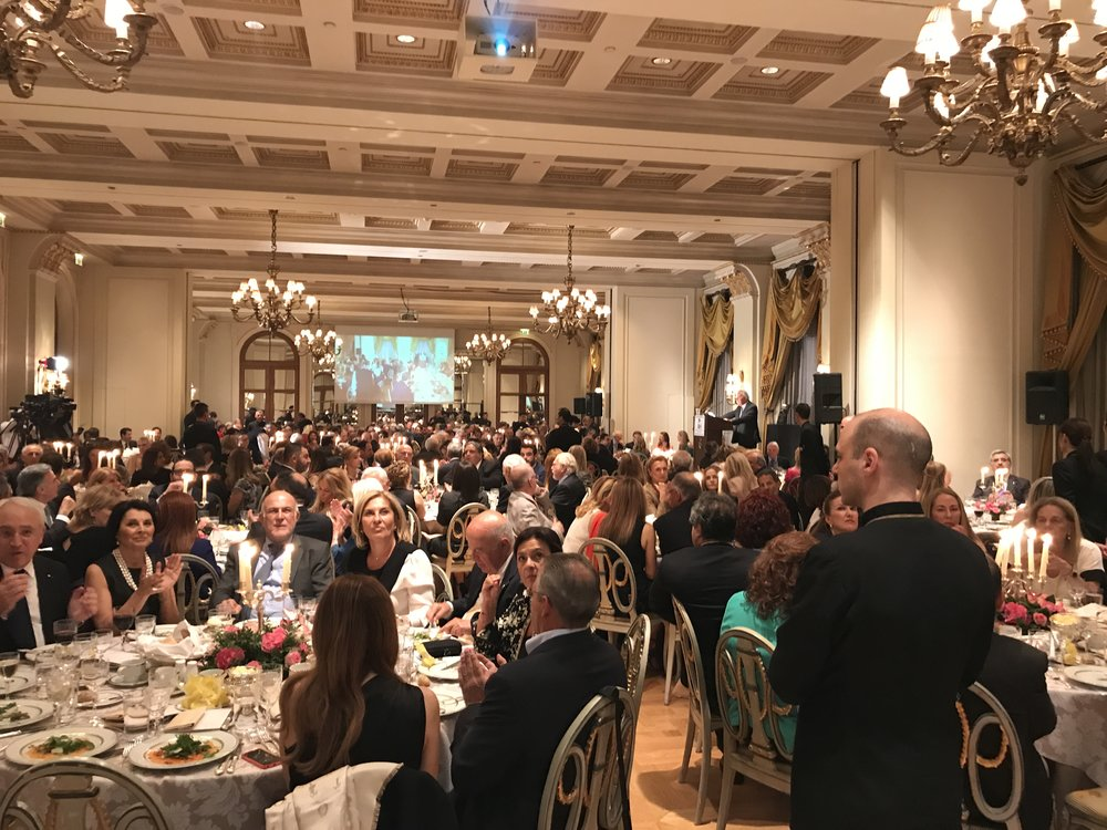 13th Annual Athens Hellenic Heritage Achievement and Public Service Awards Dinner at the Hotel Grande Bretagne