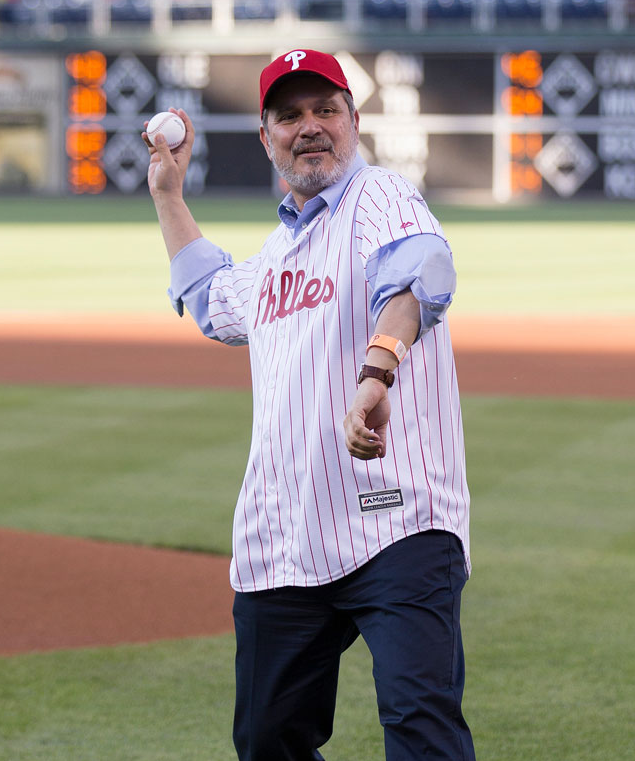 Greek Ambassador to the U.S. Haris Lalacos throws out the First Pitch.