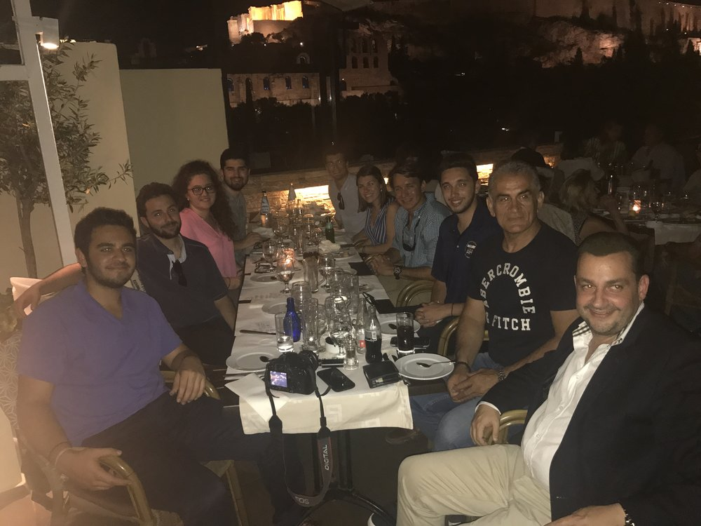 Welcome Dinner hosted by Michalis Kokkinos, head of the General Secretariat for Greeks Abroad.
