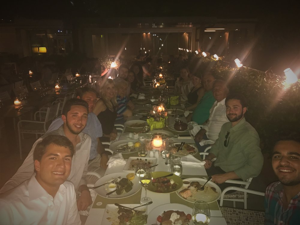 Dimitri Contominas, President of the Demco Group hosts a dinner at the fine dining landmark Athenian restaurant, Aegli.