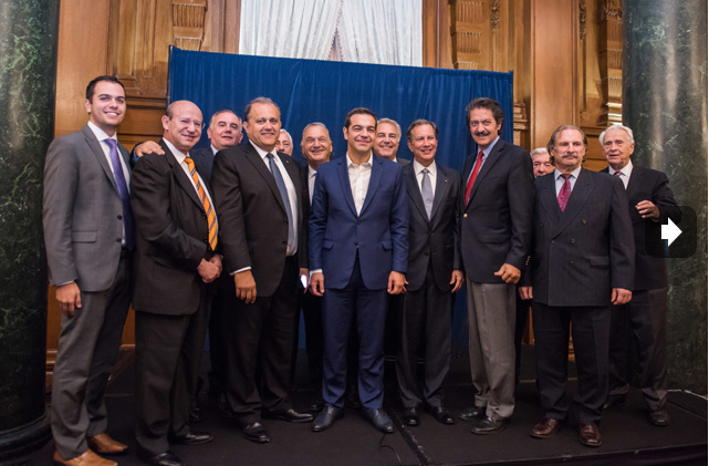 AHI members share a moment with Prime Minister Tsipras.