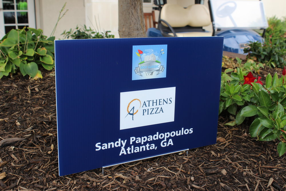 Golf Cart Sponsor, Athens Pizza.