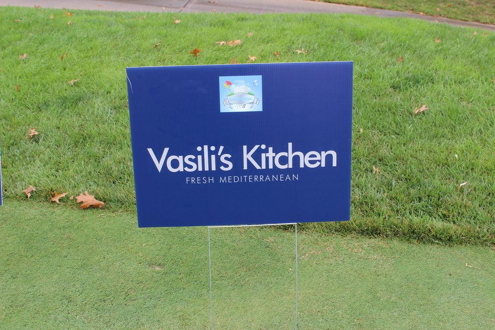 Hole Sponsor, Vasili's Kitchen.