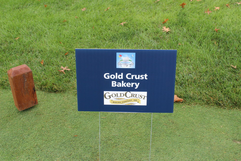Hole Sponsor, Gold Crust Bakery.