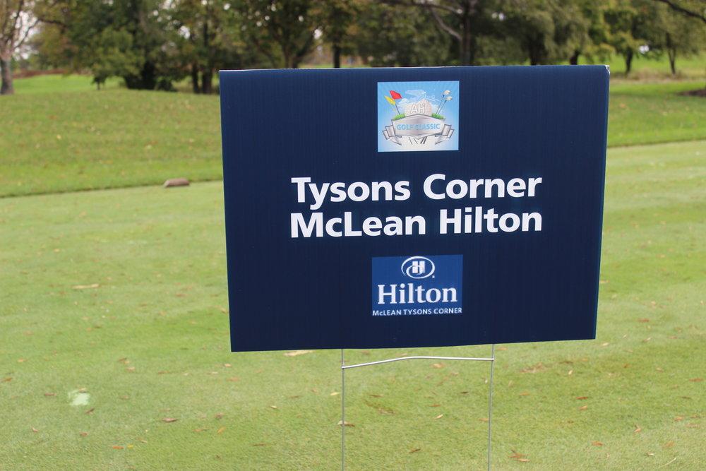 Hole Sponsor, Tysons Corner, McLean Hilton.