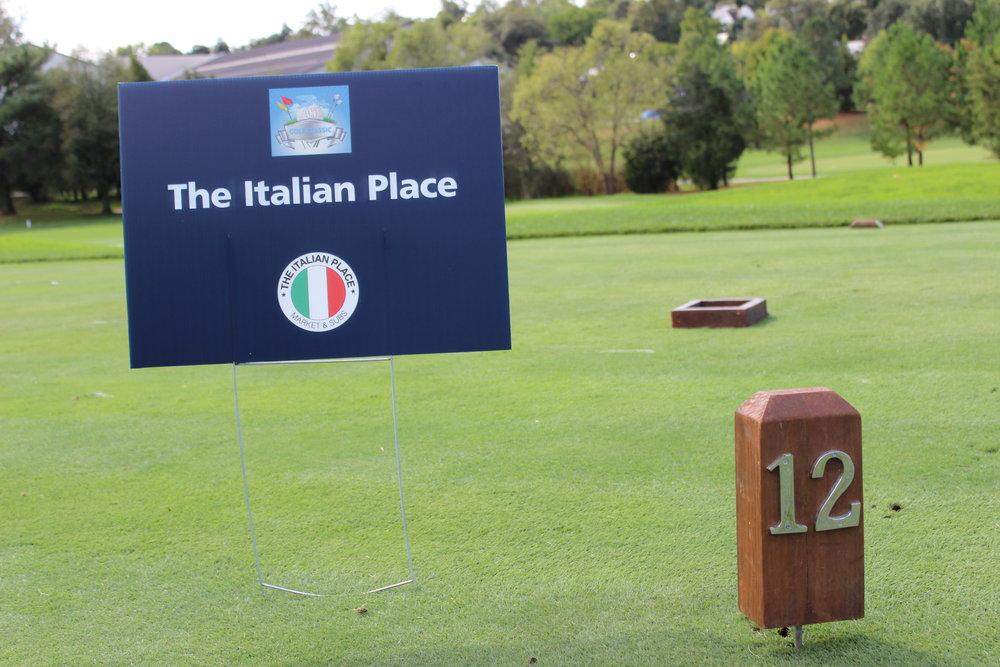 Hole Sponsor, The Italian Place.