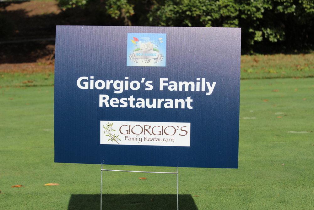 Hole Sponsor, Giorgio's Family Restaurant.