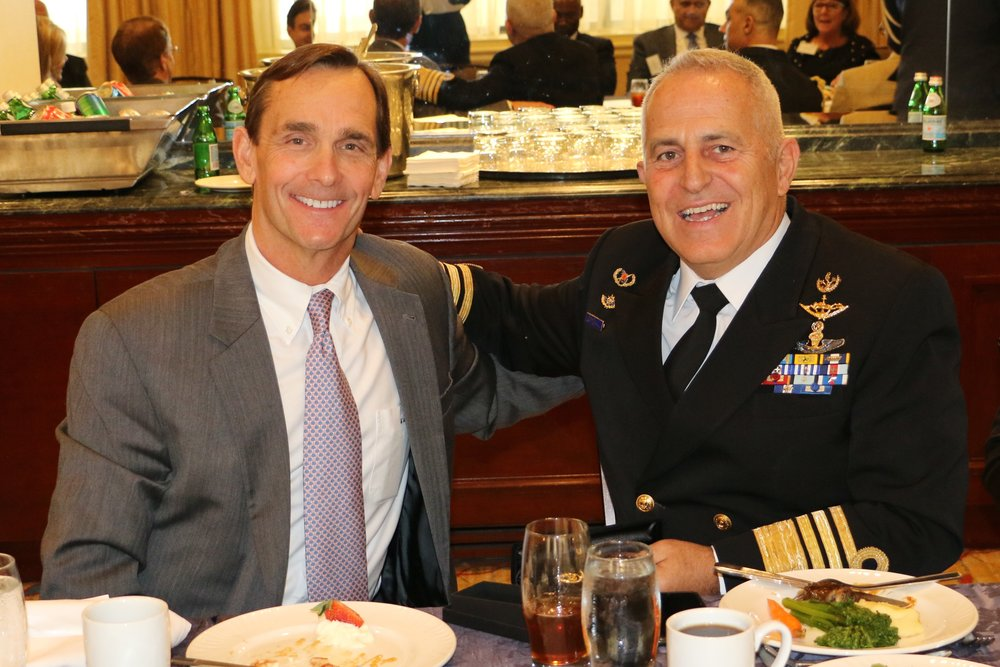 "Lexington Institute Chief Executive Officer, Merrick ""Mac"" Carey and Admiral Apostolakis."