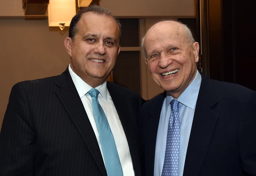 AHI President Nick Larigakis and AHI Founder Eugene Rossides.