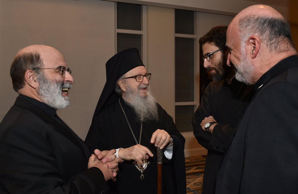 Rev. Steve Zorzos, His Eminence, Archdeacon Pantelimon Papadopoulos.