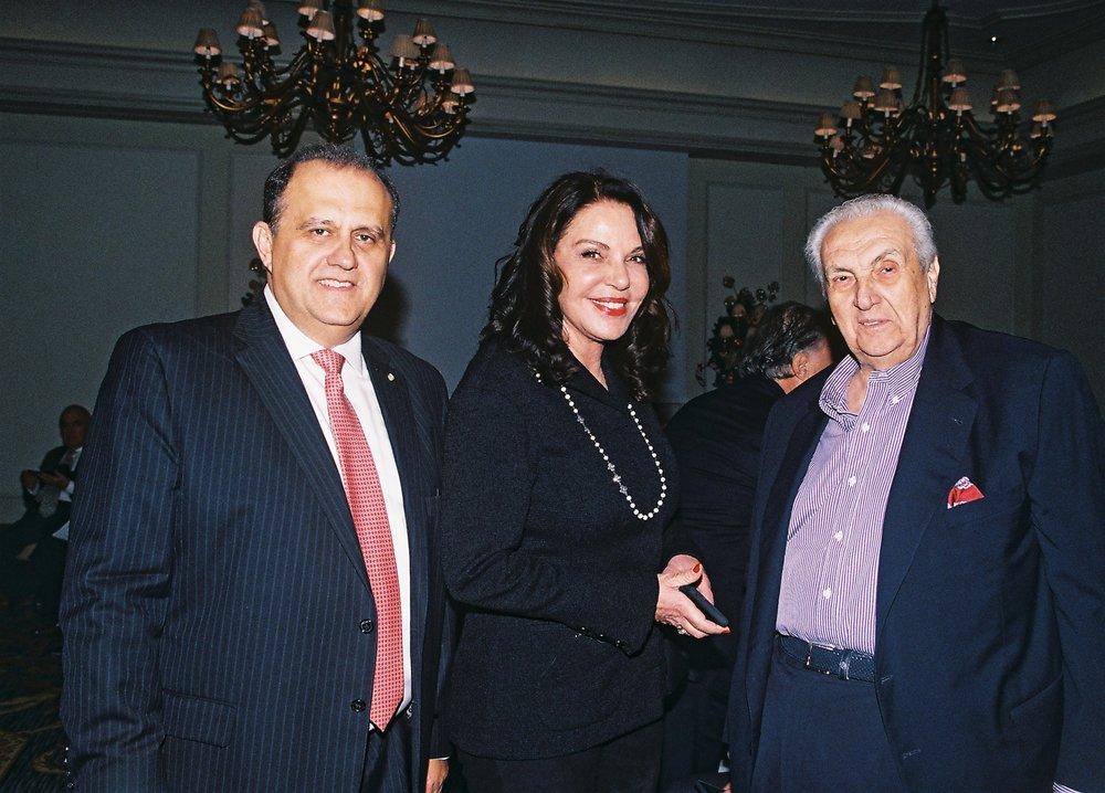 Nick Larigakis, Katerina Panagopoulos, and Dimitri Contominas.