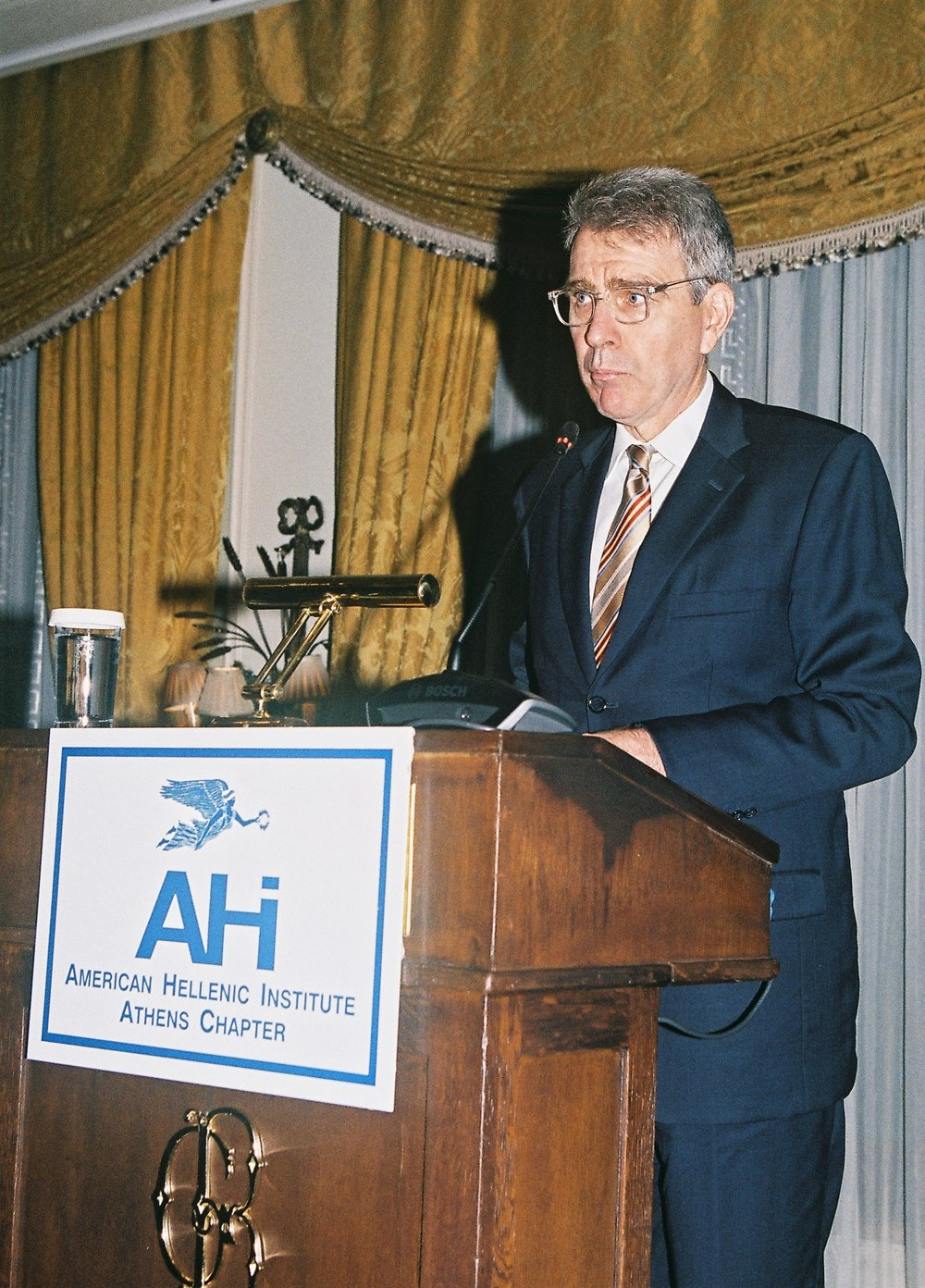 Ambassador Geoffrey Pyatt, U.S. Ambassador to Greece presents the Keynote Address.