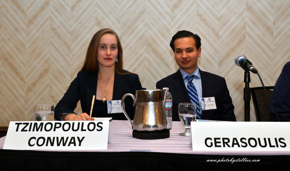 Elizabeth Tzimpoloulos Conway and Elias Gerasoulis.