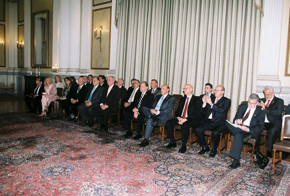 Delegation at President Pavlopoulos' welcome speech.